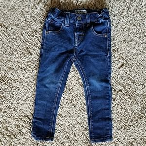Toddler Dark Blue Skinny Jeans